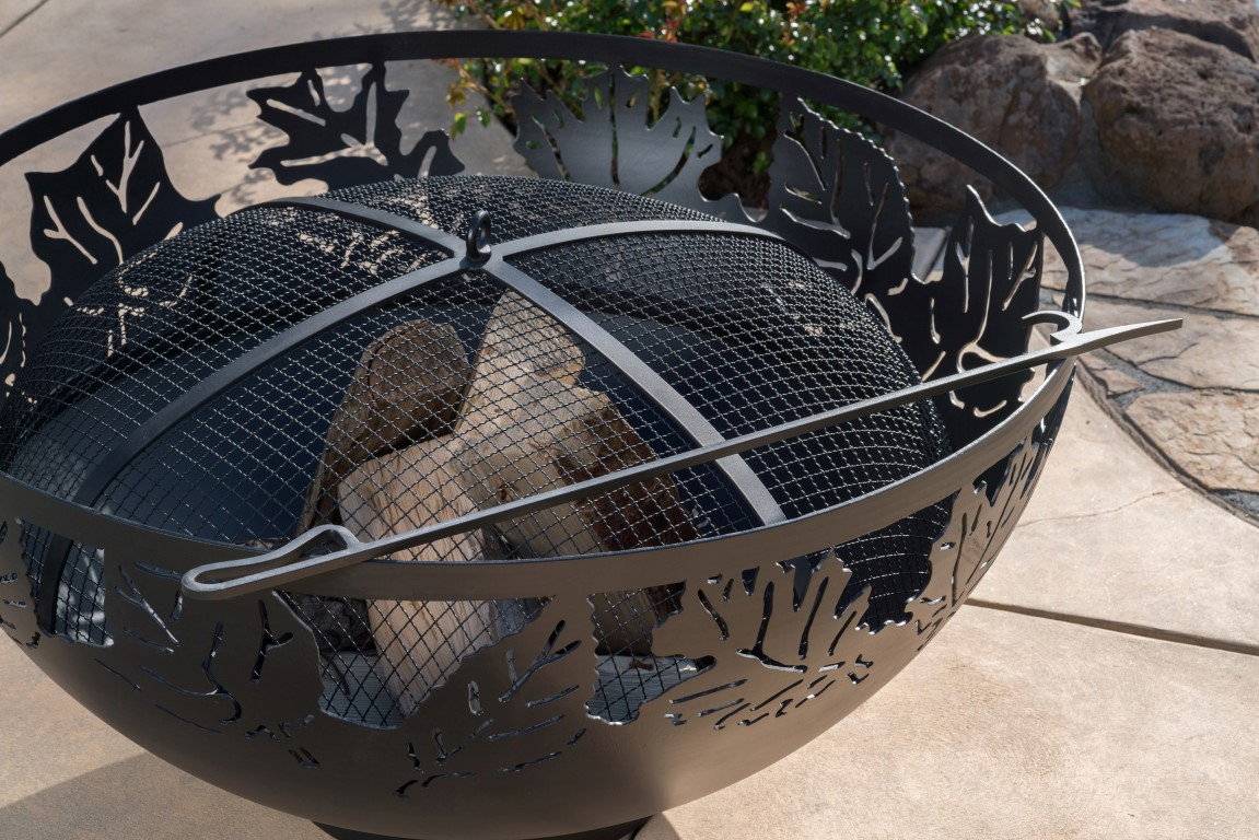 large backyard fire bowls