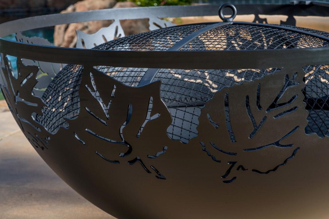 Large Leaf Fire Bowl