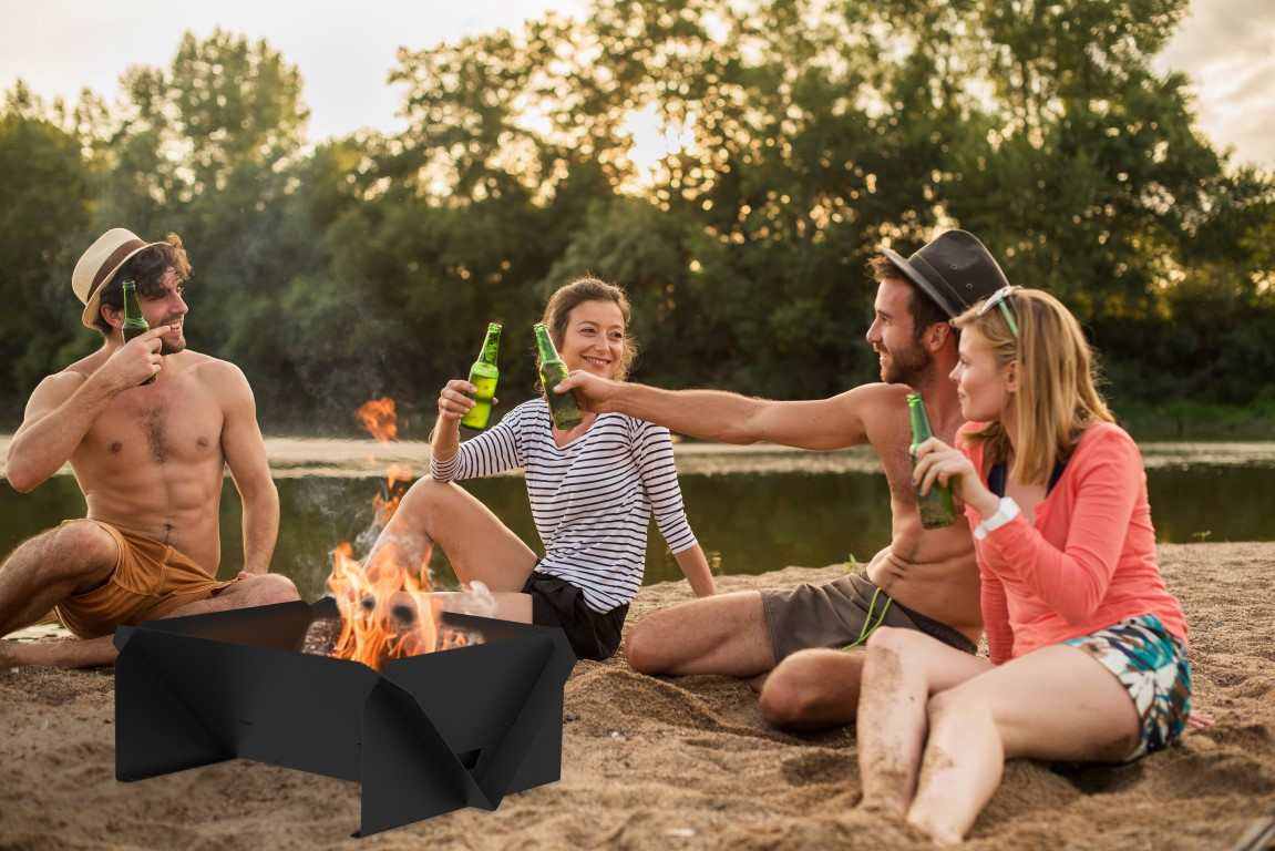 Groove Firepit & Grill Combo